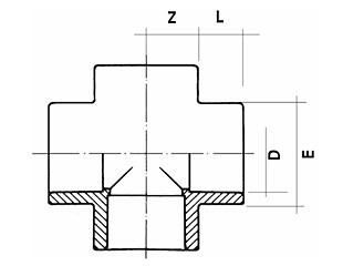 CRD czwórnik d 32mm