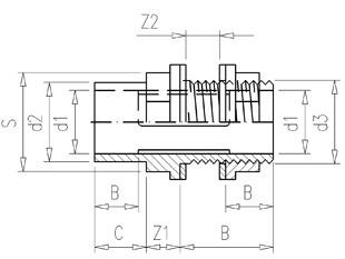 VDL ASZ Śrubunek zbiornika d 32 x 40 x 1. 1/4